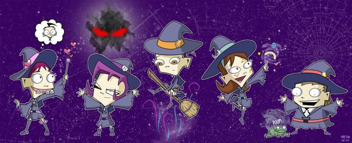 Little Witch Invader Zimia by Spectra22