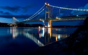 Tacoma Narrows Bridge by alexquick