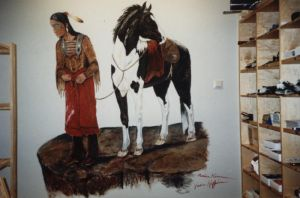 Wall painting: Indian by mooni