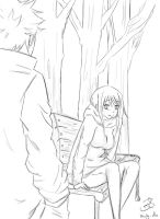 Nalu sketch: -Autumn time- by Bludy-chu