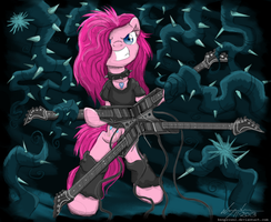 Pinkie Pie Quad Guitar by FlutterThrash
