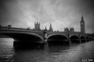 Big Ben BW by Klek