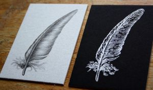 ATC feathers black and silver by SwarzezTier