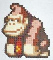Hama Beads - Donkey Kong I by acidezabs