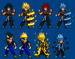 Gosuke and Nageta Updated Sprites by LeeHatake93