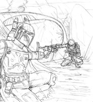 Boba Fett vs The Predator by Amrock