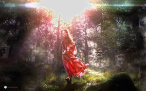Girl in the Forest Creasitedesign by creasitedesign