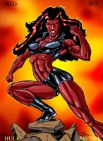 red she hulk by lenlenlen1