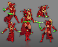 Valeera Sanguinar Model Actionshot by Naitsade