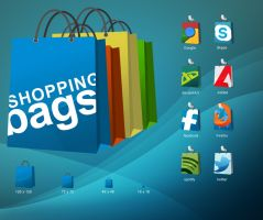 Shopping Bag Icons by Drowno