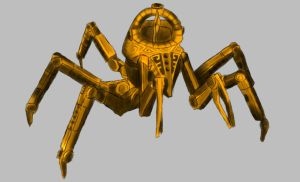 Dwarven Spider Speed-paint by Jotun-Eira