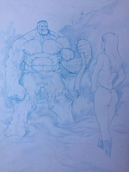 Vampirella Meets the Hulk by simi8un0