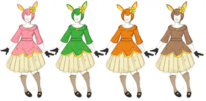 Deerling Dresses by Zinkyu