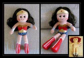 wonder woman ragdoll by nightwing1975
