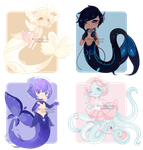 Set Price :: Many Mers [ 1/4 OPEN ] by Devi-Adopts