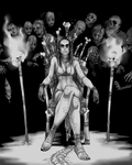 Queen Izhiphid: Grayscale by InkyBrain