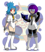 Galactic Commanders Solana and Shauntel by Dragon-FangX