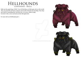 Hellhounds continued- Bulls by JoshuaDunlop