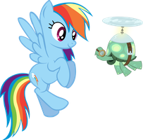 Rainbow Dash and Tank by TrueCelticHeart