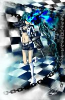 Black Rock Shooter 70's style by Shiftedhopes