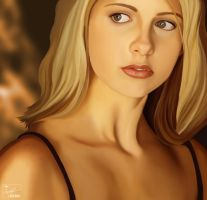 Buffy digital painting by frostdusk