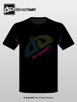 dA Typography T-shirt by DrM94