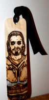 Skyrim: Farkas Pyrography Bookmark by BumbleBeeFairy