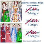 Costume Design Commissions- June special by InkyRose