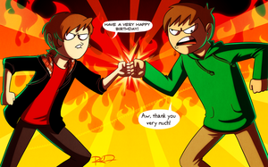 Birthday Brofist by AnArtistCalledRed