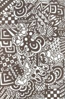 black and white zentangle by rancid-roses
