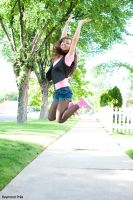 Tasha jumping for joy by RaymondPrax