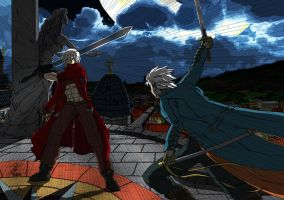 Dante vs Vergil by Yurius06