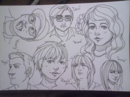 Face Drawing Practice 1 by Julian-Blue