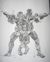 NanoSuit Troopers from Crysis by Lordmarshal