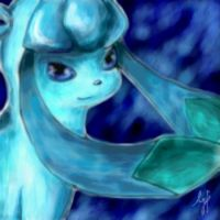 Glaceon - Pure Heart - Oekaki by Gem-n-Ems