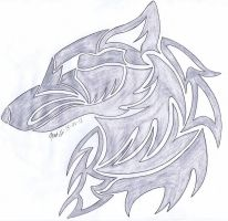 Request 1 of 5: Silver Wolf Symbol by WolfRaid