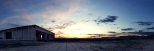 hospital roof panorama by neronin