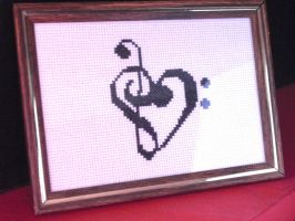 Musical Heart Cross Stitch by Luthien3