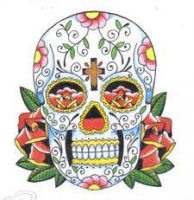 day of the dead skull by HeathersVisualDesign