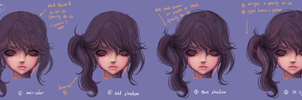 How to paint HAIR No.02 by JinkiMania