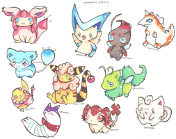 Pokemon Hybrid Adoptables 10 by PinkMelodii