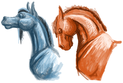 Horses by femalefred