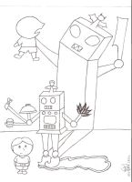 Robot VS Monster by PeculiarChemicalista