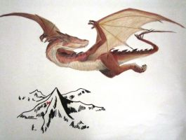Smaug and the Lonely Mountain by Jedi-Master-Autobot