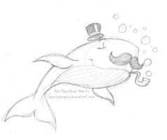 A Dapper Whale Sketch by spartydragon