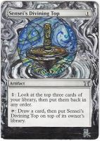 Magic Card Alteration: Sensei's Divining Top by Ondal-the-Fool