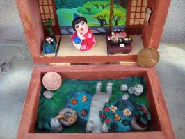 Polymer clay diorama Japanese house by SelloCreations
