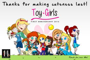 Toy Girls First Anniversary by mickeyelric11