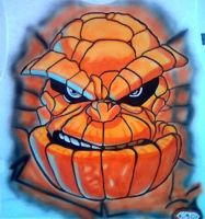 THE THING AIRBRUSHED by javiercr69