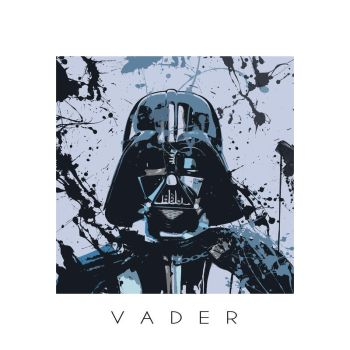 Star Wars splash portrait I - Darth Vader by ArtClem